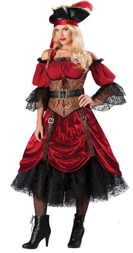 682738cea Aluguel de Fantasia Feminina Pirata Luxo